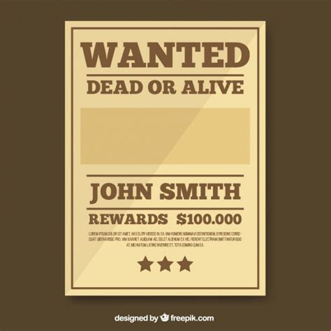 Wanted Poster Template Free by Wanted Poster Template In Brown Tones Vector Free
