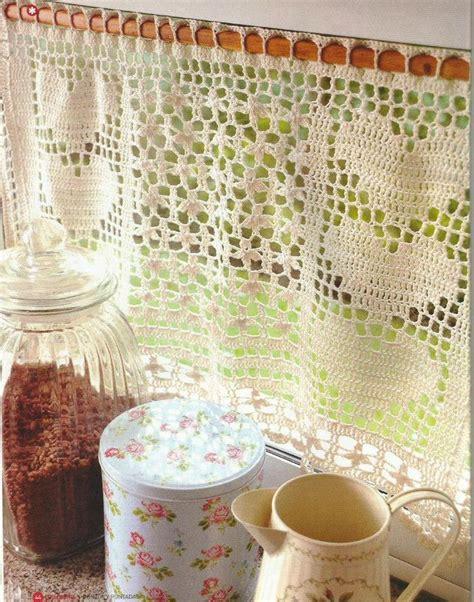 cortina  crochet cortinas pinterest cortinas tejidas cortinas de crochet  cortinas de
