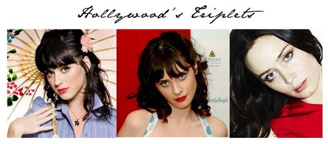 Hollywoods' Triplets: Emily Blunt, Katy Perry and Zooey