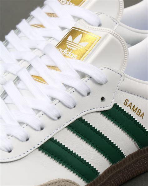 adidas samba og trainers whitegreenleathershoessuper