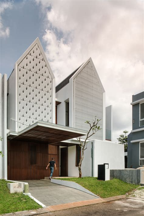 house architecture design spouse house parametr indonesia archdaily