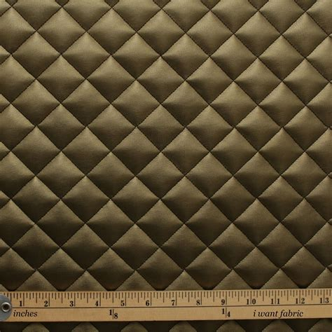 Auto Upholstery Foam Quilted Leather Diamond Padded Cushion Faux Leather