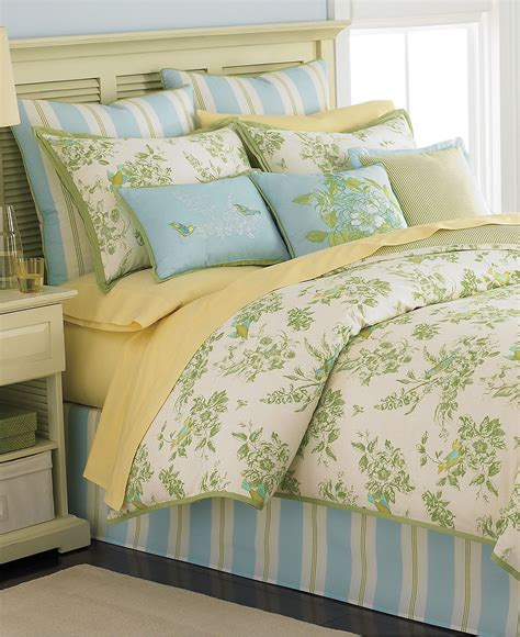 martha stewart collection bedding bluebird garden 6 piece