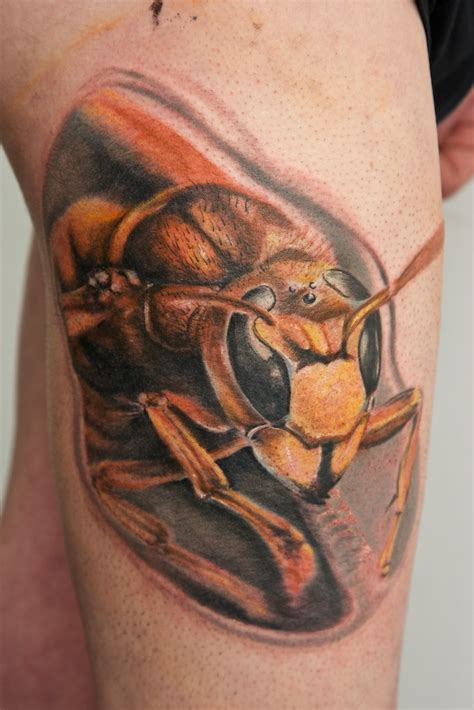 hornet tattoo hornet wip by graynd on deviantart
