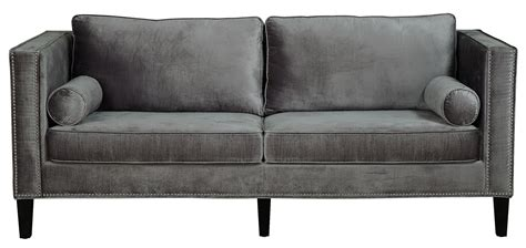 gray velvet sofa cooper grey velvet sofa from tov s29 coleman furniture