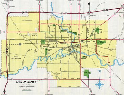 map of des moines iowa interstate guide interstate 235 iowa