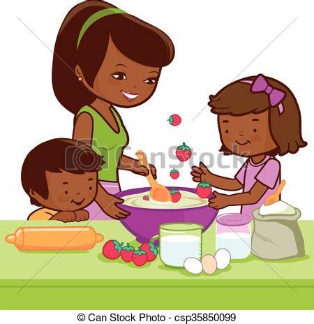 faire cuisine enfant cuisine enfants m 232 re faire cuisine illustration