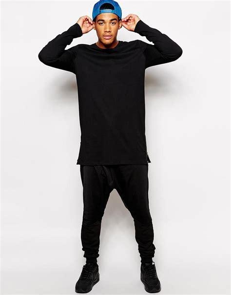 Kaos Longline Swag Hiphop Rapper Best Seller 1 s longline with zip detail t shirt for shirts solid color hip hop clothes shirt