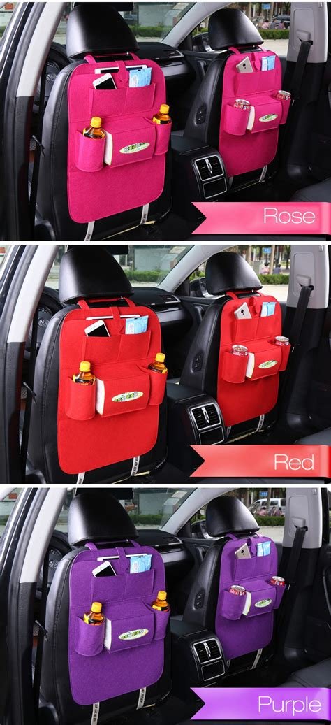 Exclusive Back Auto Seat Car Organizer Black Color honana hn x2 car back seat organizer 7 colors hanging holder car storage bag travel accessories