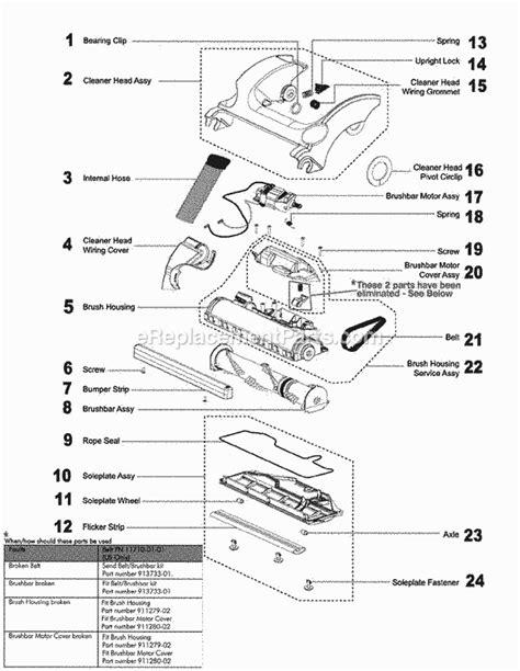 dyson vacuum parts diagram dyson dc17 parts list and diagram ereplacementparts