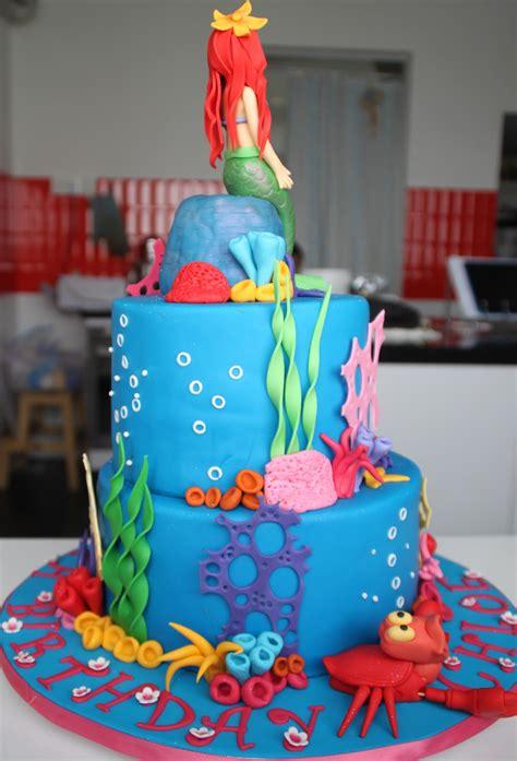 Ariel Birthday Cake Decorations mermaid on mermaid