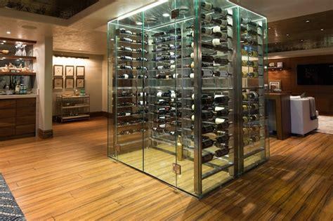 design center wine walk see through wine cellar contemporary basement alice