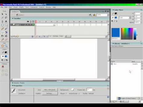 tutorial flash mx 2004 using flash mx 2004 pt 1 basic animations youtube