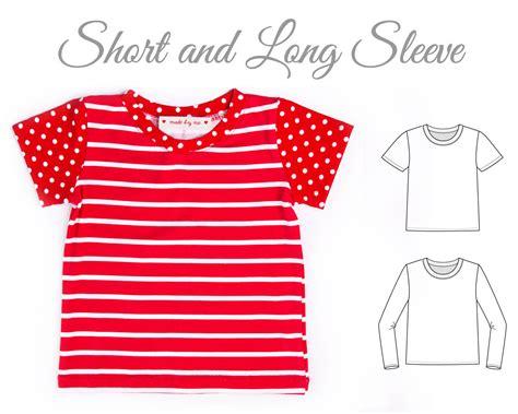 t shirt sewing pattern pdf tshirt pattern pdf kids top pattern tshirt sewing