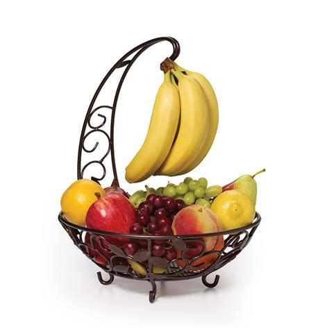 fruit basket pfaltzgraff fruit basket with banana hanger ebay