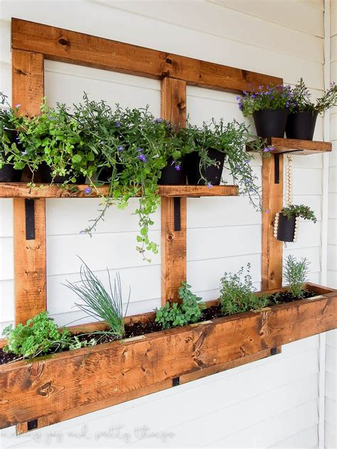 Diy Vertical Herb Garden And Planter 2x4 Challenge Hanging Wall Herb Garden