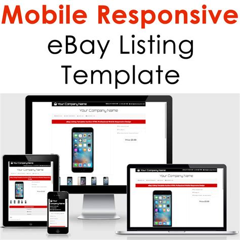 Ebay Listing Template Design Auction Mobile Professional Responsive Html Custom For 5 Seoclerks Mobile Responsive Template