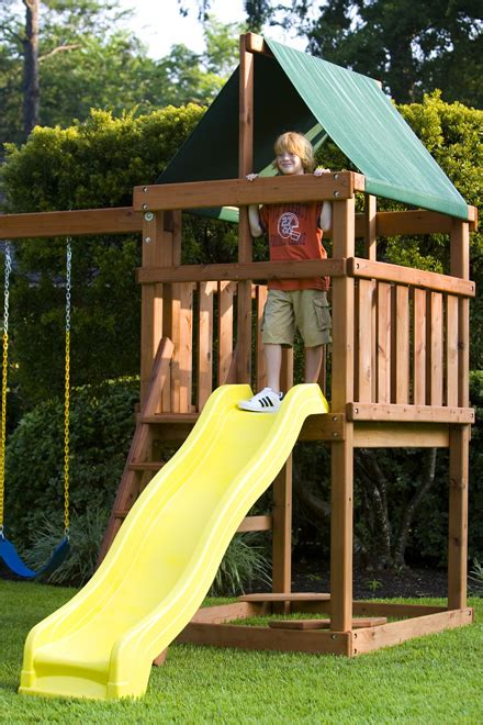 fort swing set plans how to build endeavor diy wood fort swing set plans