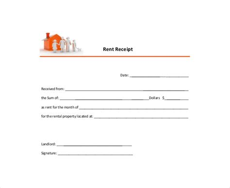 yearly rent receipt template ontario 35 rental receipt templates doc pdf excel free