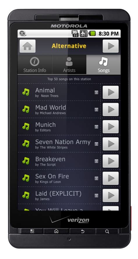 slacker androids slacker radio announces on demand for mobile apps