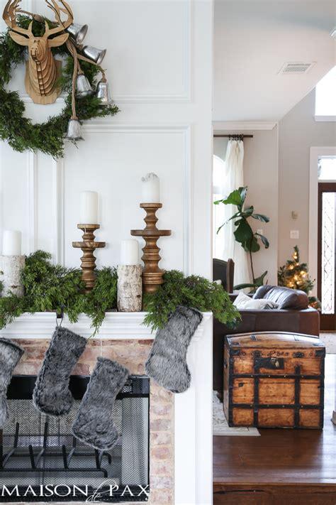 winter woodland mantel maison de pax