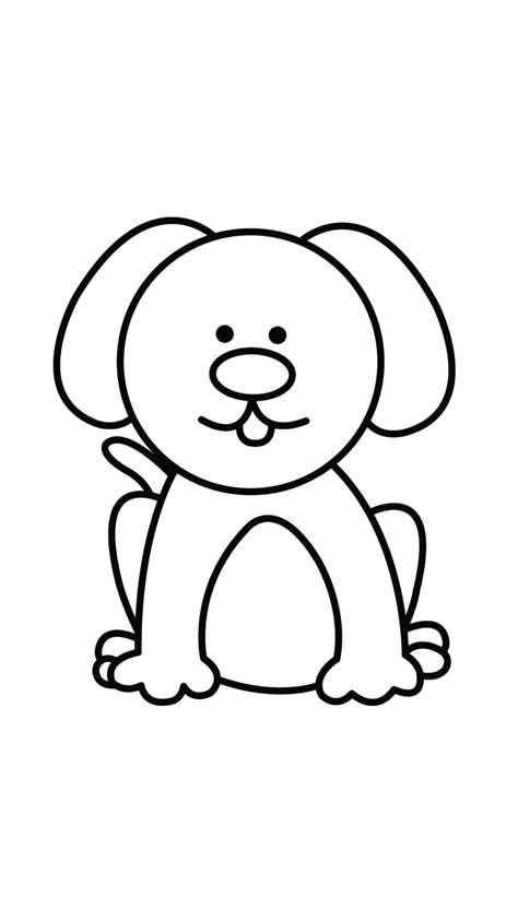 Easy Dog Face Drawing Drawings - Litle Pups Easy Dog Face Drawing