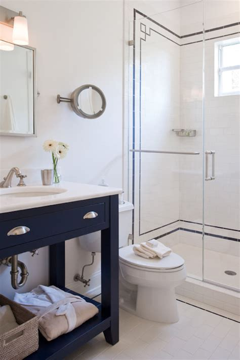 navy vanity contemporary bathroom ruth richards
