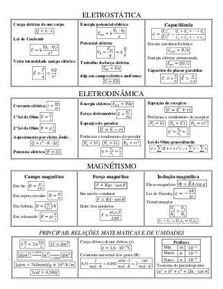 132 formulas de fisica rc | física | Fisica formulas
