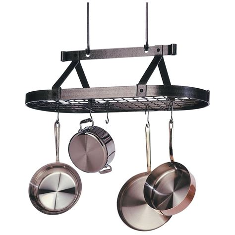 Oval Hanging Pot Rack enclume 174 premier 3 oval hanging pot rack 226481 kitchen dining at sportsman s guide