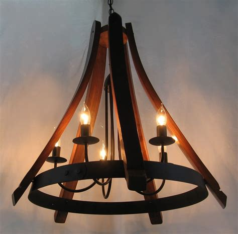wine barrel chandeliers buy a made cervantes wine barrel chandelier recycled