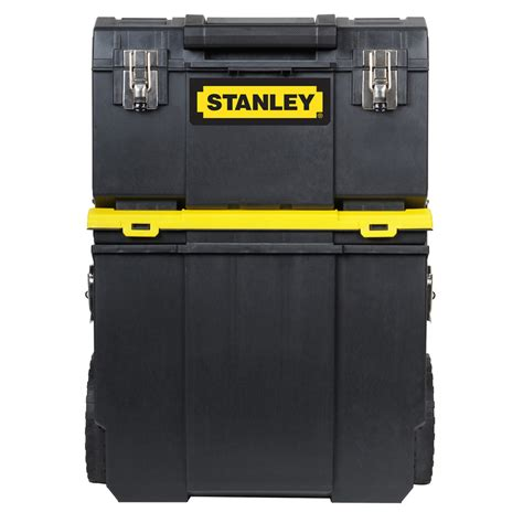 stanley 24 in w 5 drawer tool cabinet shop stanley 24 8 in x 11 in 1 drawer tool chest black