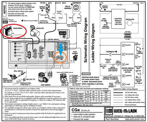 how to connect thermostat c wire to weil mclain cga boiler