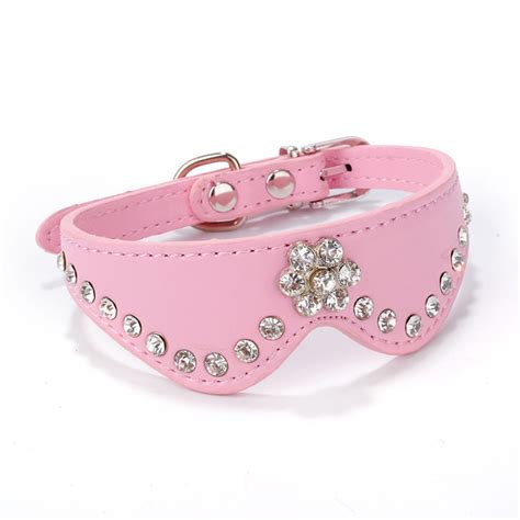 jeweled collars pretty pet cat collar buckle necklace leather puppy rhinestone collars lots ebay