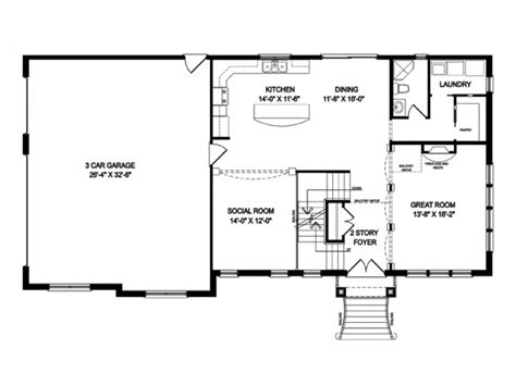 Open Floor Plans One Story by One Story Houses Open Floor Plans Eplans Traditional House