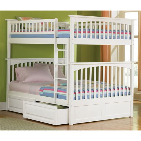 full over full bunk beds with storage master atf237 jpg