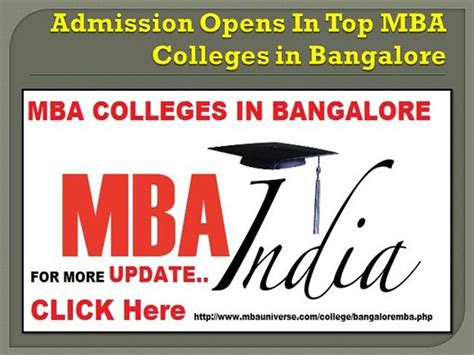 Mba Openings In Bangalore by Mba Colleges In Bangalore Authorstream