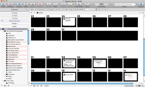 scrivener corkboard templates for organisation creative