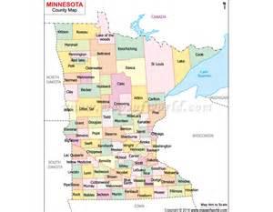 Mn County Buy Minnesota County Map