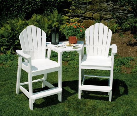 Recycled Plastic Outdoor Furniture by Patio Furniture Bar Height Chairs Adirondack American