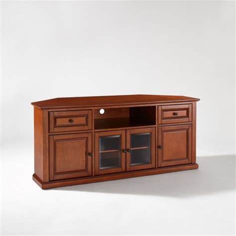 tv cabinet for 60 inch tv crosley 60 inch corner tv cabinet stand at brookstone buy now
