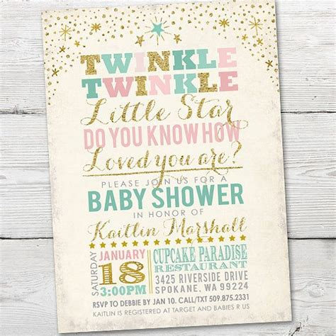 Twinkle Twinkle Baby Shower Invites by Twinkle Twinkle Baby Shower Invitation By
