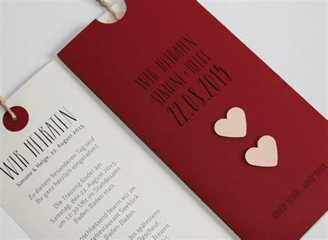 Hochzeitskarten Rot by Diy Hochzeitskarten I Ideen F 252 R Ihre Hochzeitspapeterie