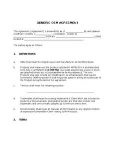 Manufacturing Agreement Template Free Sample Contract Manufacturing Agreements