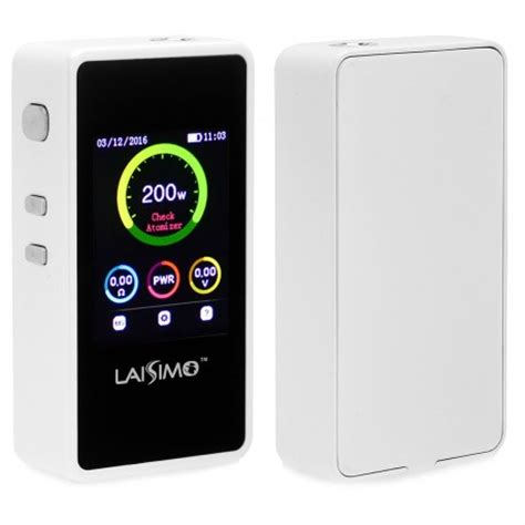 Smart Vape Authentic Laisimo L1 Box Mod Oled Display 200w authentic laisimo l1 200w tc white vw variable wattage box mod