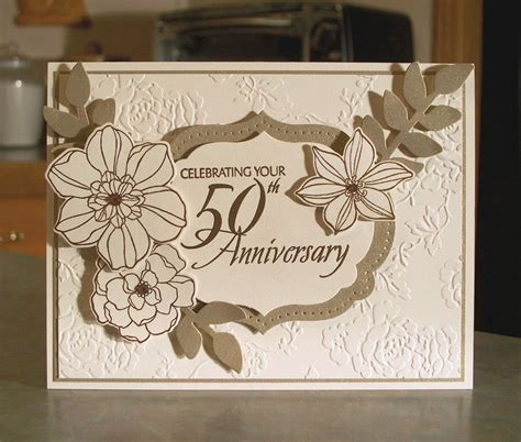 Handmade 50th Wedding Anniversary Cards - 1000 ideas about 50th anniversary cards on