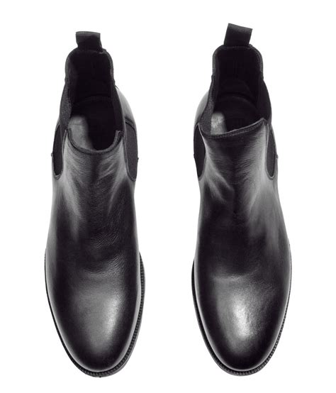 m and s shoes h m chelsea boots in black for lyst