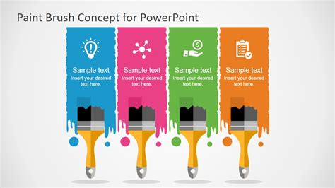 Free Paint Brush Concept Powerpoint Template Slidemodel Painting Template Free