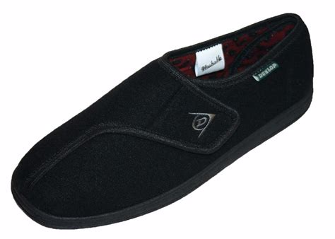 washable mens slippers mens dunlop arthur velcro fastening washable adjustable