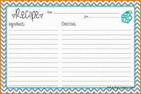 Page Recipe Card Template by Recipe Card Template For Word Authorization Letter Pdf