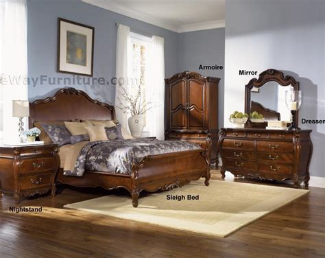 royal bedroom set royal orleans sleigh bedroom set